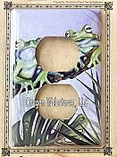 Green Jungle Frogs Outlet Plate